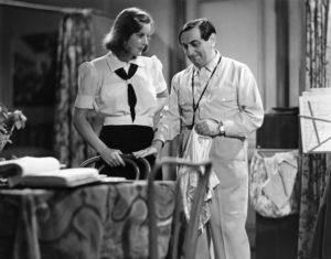 Garbo and Lubitsch on the set of Ninotchka